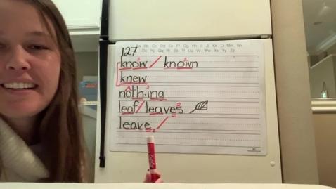 Thumbnail for entry Spelling Lesson 127 3/3