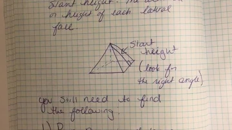 Thumbnail for entry 7–8 surface area of pyramid lesson