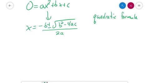 Thumbnail for entry Algebra 1 3.8 Quadratic formula derivation