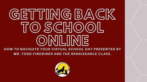 Thumbnail for entry Getting Back to School Online CHJH 2020-2021 English