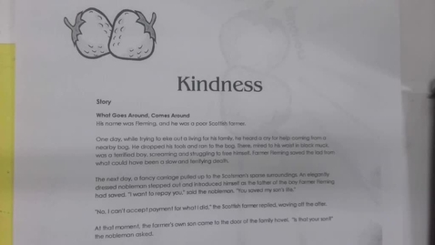 Thumbnail for entry 6th Grade Bible - Fruit of the Spirit - Kindness - Monday,   - May 11
