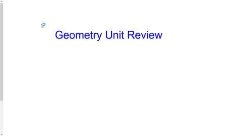 Thumbnail for entry Geometry Unit Review