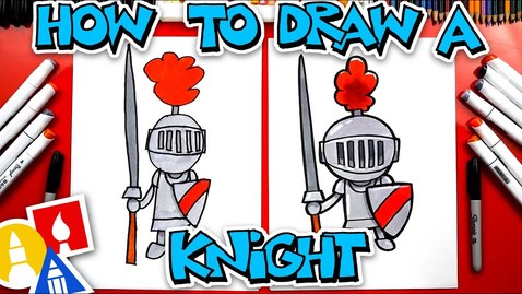 Thumbnail for entry How To Draw A Knight In Shining Armor - #stayhome and draw #withme