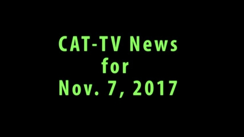 Thumbnail for entry News for week of Nov 7, 2017