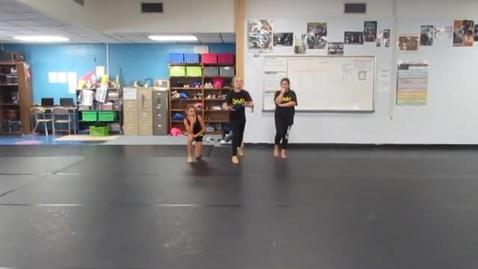 Thumbnail for entry 3rd Period 6th grade Rhythm Name Dances 10-20-16 group JP BD MP