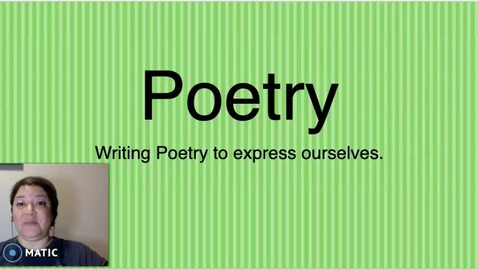 Thumbnail for entry Cinquain Poetry.mp4