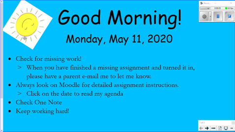 Thumbnail for entry Miss Galvin's Monday Message- May 11th