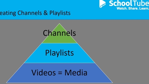 Thumbnail for entry How to Create & Manage Channels and Playlists on SchoolTube (hts19)
