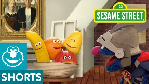 Thumbnail for entry Sesame Street: Super Grover Paints a Still Life | Super Grover 2.0