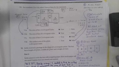 Thumbnail for entry 6th Grade Math Chapter 11 Chapter Review Part 2