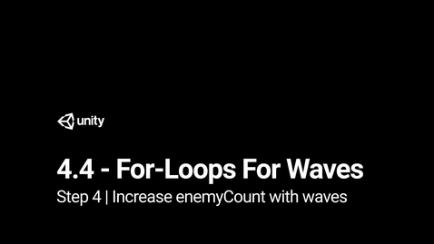 Thumbnail for entry 5.Increase enemyCount with waves