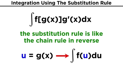 Thumbnail for entry The Substitution Rule for Integration