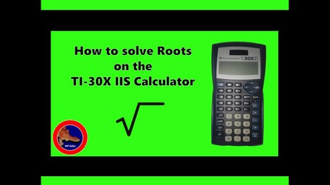 Thumbnail for entry How to find Roots on the Texas Instruments TI-30X iis calculator