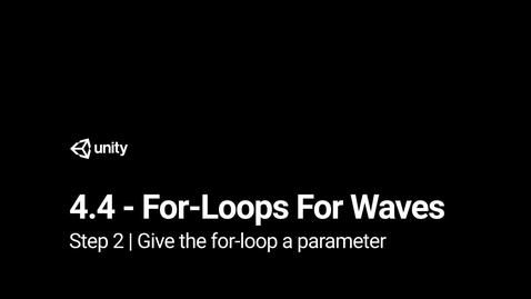 Thumbnail for entry 3.Give the for-loop a parameter