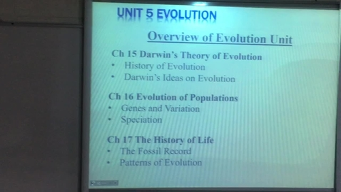 Thumbnail for entry Lecture Evolution #1