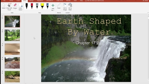 Thumbnail for entry Tuesday 5/5 - 17.2 Earth Shaped by Water