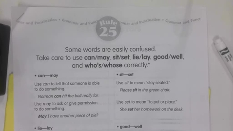 Thumbnail for entry 6th Grade Grammar - Rule 25 -  May 4
