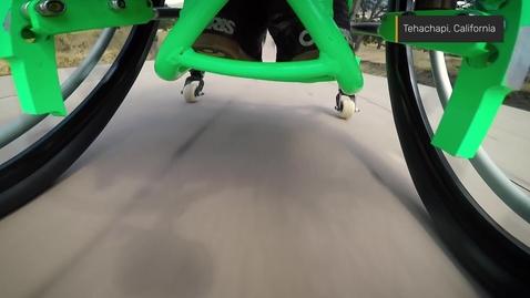 Thumbnail for entry Farthest wheelchair ramp jump (WCMX)