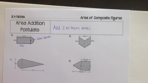 Thumbnail for entry 11.4 Area of Composite Figures