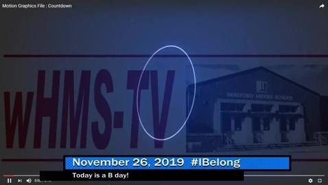 Thumbnail for entry WHMS Morning Show Nov 26, 2019
