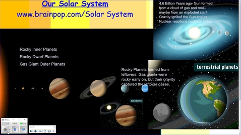 Thumbnail for entry 0-4. Our Solar System and Planets to Scale for Size