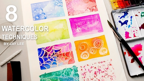 Thumbnail for entry 8 Watercolor Techniques for Beginners