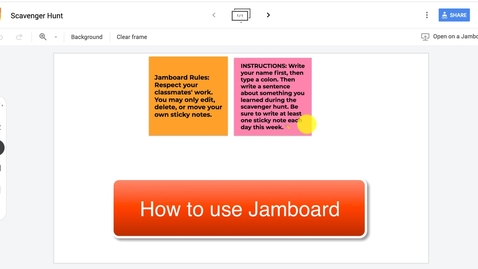 Thumbnail for entry How to use Jamboard