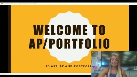Thumbnail for entry Welcome to AP_Portfolio