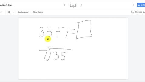 Thumbnail for entry How to use multiplication table for division