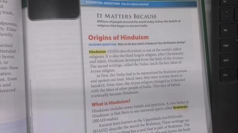 Thumbnail for entry 6th Grade Social Studies - Ancient India - Religions of India - Friday May 15