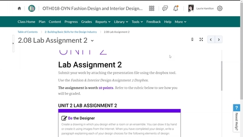 Thumbnail for entry Fashion and Interior Design Unit 2 Lab 2 Be the Designer