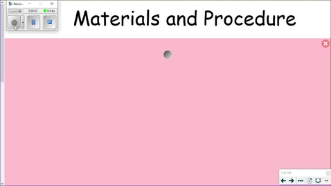 Thumbnail for entry Final Materials List and Procedure Instruction Video