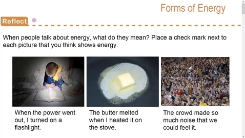 Thumbnail for entry Stemscopedia-Forms of Energy