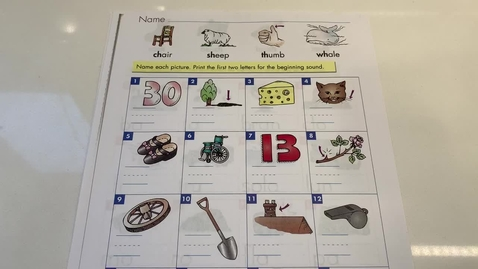 Thumbnail for entry 2nd Grade PHONICS - Wednesday, May 13