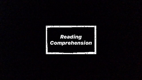 Thumbnail for entry Tuesday 5/26 - Reading Comprehension
