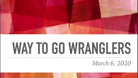 Thumbnail for entry Wrangler Tickets March 6th