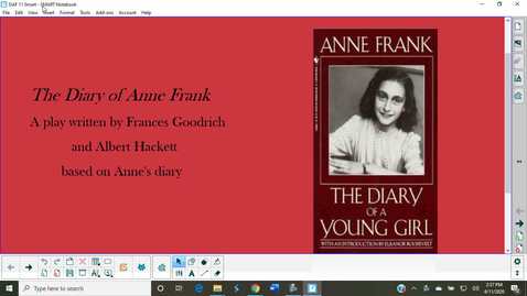 Thumbnail for entry Diary of Anne Frank Act I, Scene 1