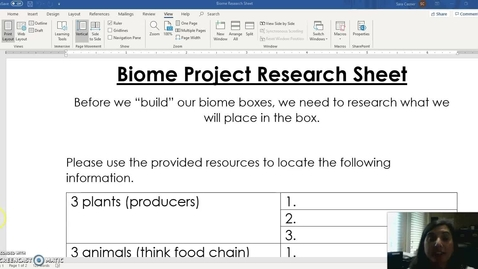 Thumbnail for entry Biome Research sheet