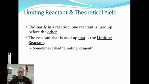 Thumbnail for entry 26. Limiting Reactant-Theoretical Yield