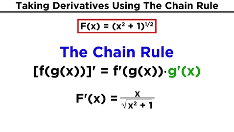 Thumbnail for entry The Chain Rule for Differentiation