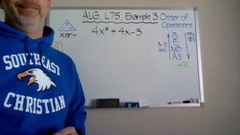 Thumbnail for entry Algebra 1, Lesson 75, Example 3