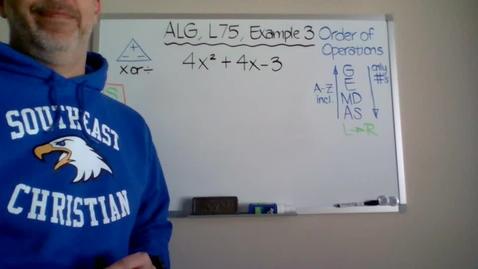 Thumbnail for entry Algebra 1, Lesson 75, Example 3