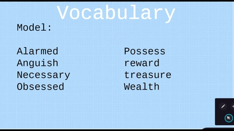 Thumbnail for entry Vocabulary Day 1: 03/30-04/03