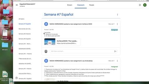 Thumbnail for entry Español: SEMANA 7