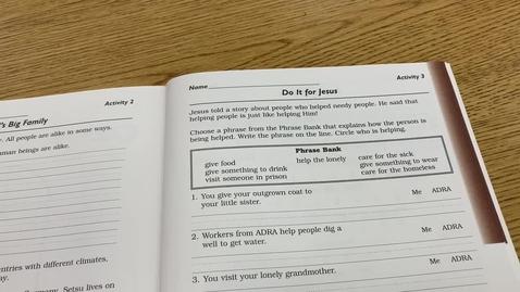 Thumbnail for entry 2nd Grade BIBLE - Monday, May 11
