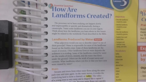 Thumbnail for entry 6th Grade Science - How are Landforms Created? - Tuesday May 12