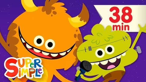 Thumbnail for entry Down By The Spooky Bay | + More Halloween Songs for Kids | Super Simple Songs 38 minutes