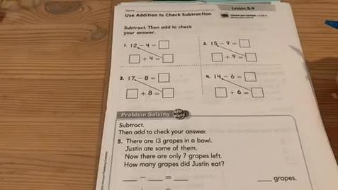Thumbnail for entry 1st Grade MATH - Monday, May 18