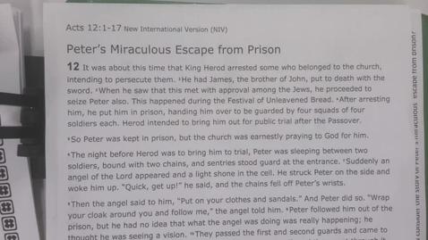 Thumbnail for entry 6th Grade-Bible, Thursday, April 30