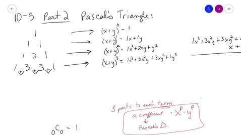 Thumbnail for entry alg2 10-5 Part 2 Binomial Expansion MrsB